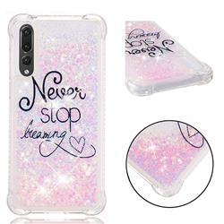 Never Stop Dreaming Dynamic Liquid Glitter Sand Quicksand Star TPU Case for Huawei P20 Pro