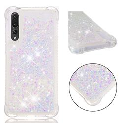 Dynamic Liquid Glitter Sand Quicksand Star TPU Case for Huawei P20 Pro - Pink