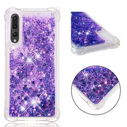 Dynamic Liquid Glitter Sand Quicksand Star TPU Case for Huawei P20 Pro - Purple