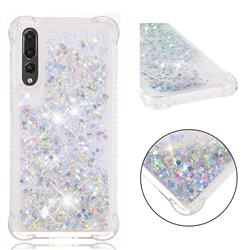 Dynamic Liquid Glitter Sand Quicksand Star TPU Case for Huawei P20 Pro - Silver