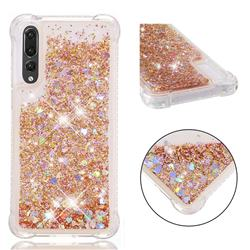 Dynamic Liquid Glitter Sand Quicksand Star TPU Case for Huawei P20 Pro - Diamond Gold