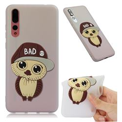 Bad Boy Owl Soft 3D Silicone Case for Huawei P20 Pro - Translucent White