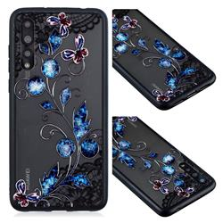 Butterfly Lace Diamond Flower Soft TPU Back Cover for Huawei P20 Pro