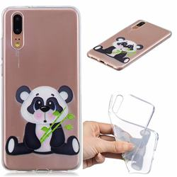 Bamboo Panda Clear Varnish Soft Phone Back Cover for Huawei P20 Pro