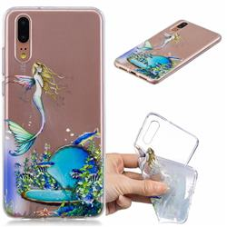 Mermaid Clear Varnish Soft Phone Back Cover for Huawei P20 Pro