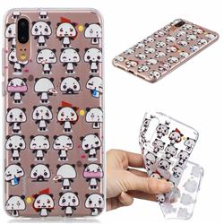 Mini Panda Clear Varnish Soft Phone Back Cover for Huawei P20 Pro