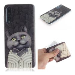 Cat Embrace IMD Soft TPU Cell Phone Back Cover for Huawei P20 Pro