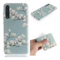 Magnolia Flower IMD Soft TPU Cell Phone Back Cover for Huawei P20 Pro