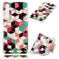Three-dimensional Square Soft TPU Marble Pattern Phone Case for Huawei P20 Pro