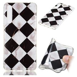 Black and White Matching Soft TPU Marble Pattern Phone Case for Huawei P20 Pro