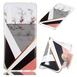 Pinstripe Soft TPU Marble Pattern Phone Case for Huawei P20 Pro