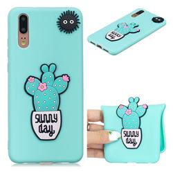 Cactus Flower Soft 3D Silicone Case for Huawei P20 Pro