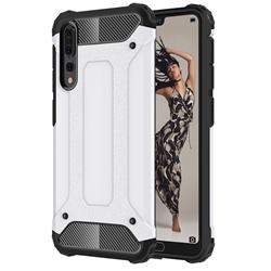 King Kong Armor Premium Shockproof Dual Layer Rugged Hard Cover for Huawei P20 Pro - White