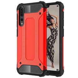 King Kong Armor Premium Shockproof Dual Layer Rugged Hard Cover for Huawei P20 Pro - Big Red
