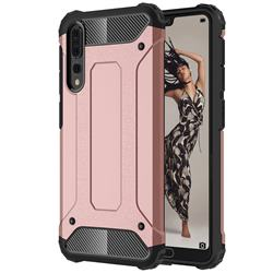 King Kong Armor Premium Shockproof Dual Layer Rugged Hard Cover for Huawei P20 Pro - Rose Gold