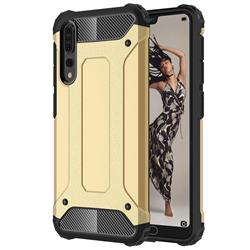 King Kong Armor Premium Shockproof Dual Layer Rugged Hard Cover for Huawei P20 Pro - Champagne Gold