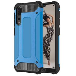 King Kong Armor Premium Shockproof Dual Layer Rugged Hard Cover for Huawei P20 Pro - Sky Blue