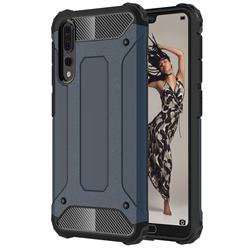 King Kong Armor Premium Shockproof Dual Layer Rugged Hard Cover for Huawei P20 Pro - Navy