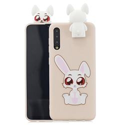 Cute Rabbit Soft 3D Climbing Doll Stand Soft Case for Huawei P20 Pro