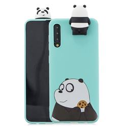 Striped Bear Soft 3D Climbing Doll Stand Soft Case for Huawei P20 Pro