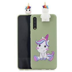 Cute Unicorn Soft 3D Climbing Doll Stand Soft Case for Huawei P20 Pro