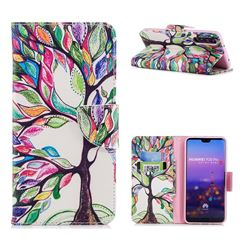 The Tree of Life Leather Wallet Case for Huawei P20 Pro