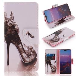 High Heels PU Leather Wallet Case for Huawei P20 Pro