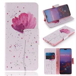 Purple Orchid PU Leather Wallet Case for Huawei P20 Pro