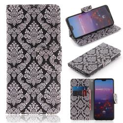 Totem Flowers PU Leather Wallet Case for Huawei P20 Pro
