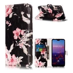 Azalea Flower PU Leather Wallet Case for Huawei P20 Pro
