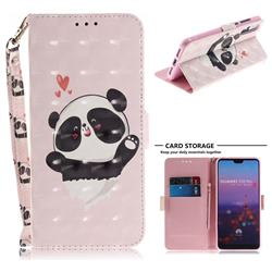 Heart Cat 3D Painted Leather Wallet Phone Case for Huawei P20 Pro