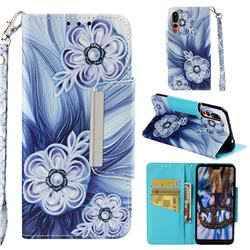 Button Flower Big Metal Buckle PU Leather Wallet Phone Case for Huawei P20 Pro