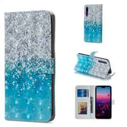 Sea Sand 3D Painted Leather Phone Wallet Case for Huawei P20 Pro