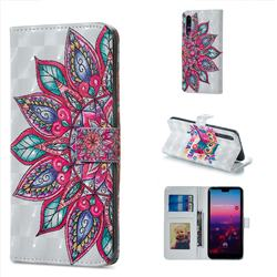 Mandara Flower 3D Painted Leather Phone Wallet Case for Huawei P20 Pro