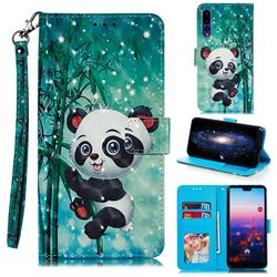 Cute Panda 3D Painted Leather Phone Wallet Case for Huawei P20 Pro