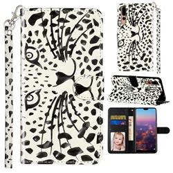 Leopard Panther 3D Leather Phone Holster Wallet Case for Huawei P20 Pro