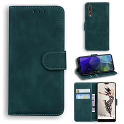 Retro Classic Skin Feel Leather Wallet Phone Case for Huawei P20 Pro - Green
