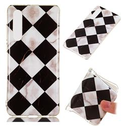 Black and White Matching Soft TPU Marble Pattern Phone Case for Huawei P30