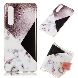 Black white Grey Soft TPU Marble Pattern Phone Case for Huawei P30
