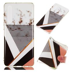 Pinstripe Soft TPU Marble Pattern Phone Case for Huawei P30