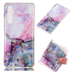 Purple Amber Soft TPU Marble Pattern Phone Case for Huawei P30