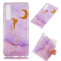 Elf Purple Soft TPU Marble Pattern Phone Case for Huawei P30