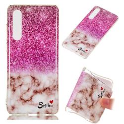 Love Smoke Purple Soft TPU Marble Pattern Phone Case for Huawei P30