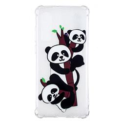 Three Pandas Anti-fall Clear Varnish Soft TPU Back Cover for Huawei P30