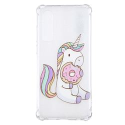 Donut Unicorn Anti-fall Clear Varnish Soft TPU Back Cover for Huawei P30
