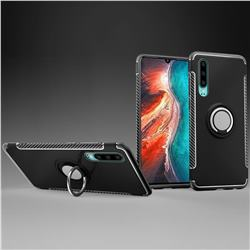 Armor Anti Drop Carbon PC + Silicon Invisible Ring Holder Phone Case for Huawei P30 - Black