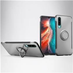 Armor Anti Drop Carbon PC + Silicon Invisible Ring Holder Phone Case for Huawei P30 - Silver