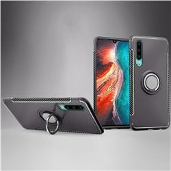 Armor Anti Drop Carbon PC + Silicon Invisible Ring Holder Phone Case for Huawei P30 - Grey