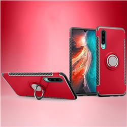 Armor Anti Drop Carbon PC + Silicon Invisible Ring Holder Phone Case for Huawei P30 - Red