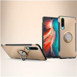 Armor Anti Drop Carbon PC + Silicon Invisible Ring Holder Phone Case for Huawei P30 - Champagne